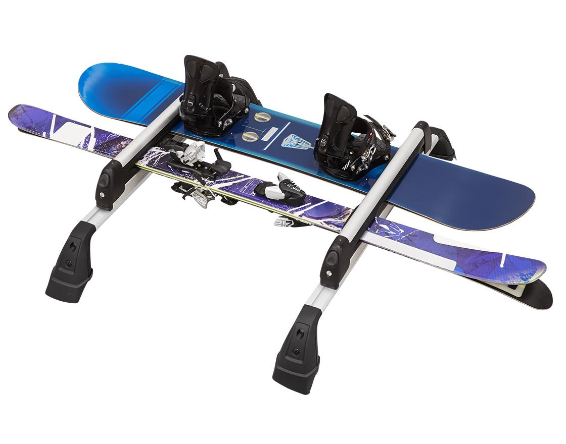Diagram Base Carrier Bars and Snowboard/Ski Deluxe Attachment for your Volkswagen